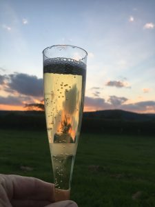 Vintage Champers in the Campsite