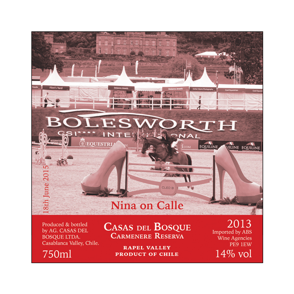 Showjumper Personalised Wine Award
