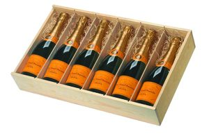 6 bottle wooden box