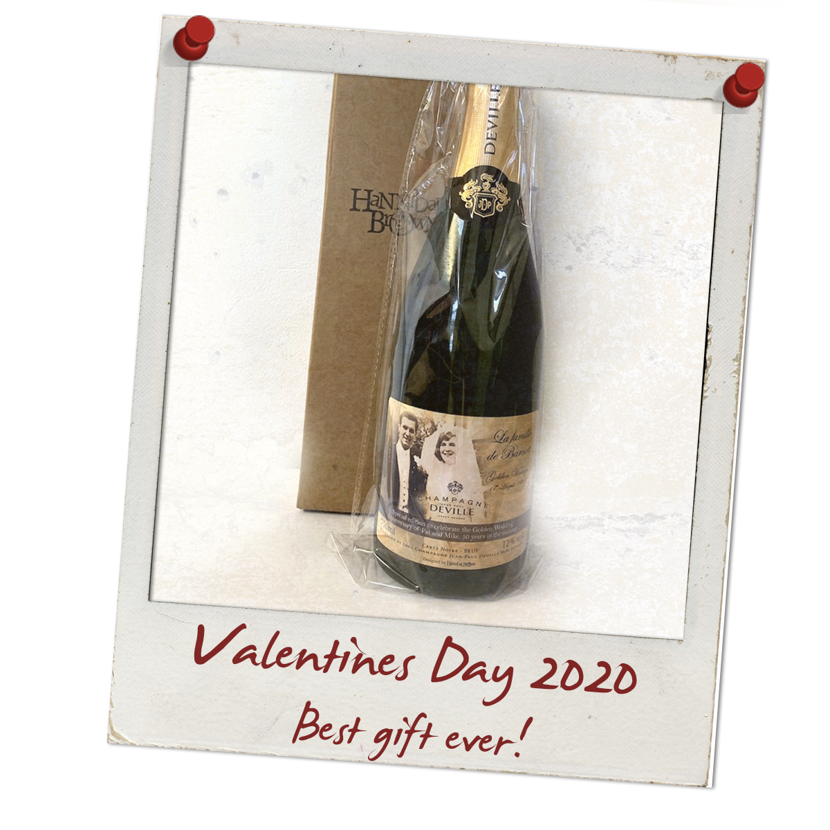 Personalised Champagne Vanlentines Day